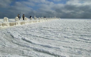 Черное море во льду